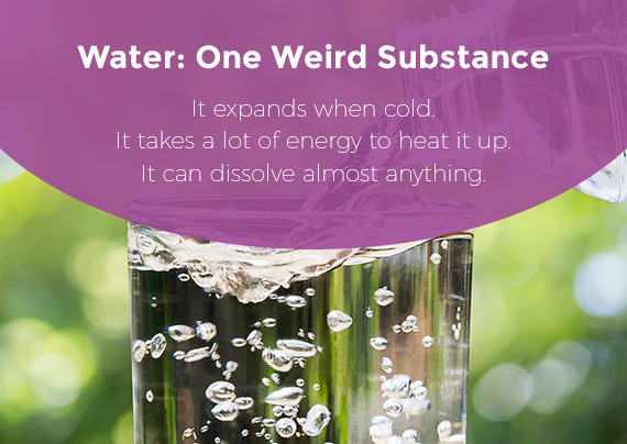 Water expands when cold